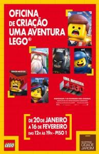 Lego oferece oficina de criação para crianças no Cidade Jardim