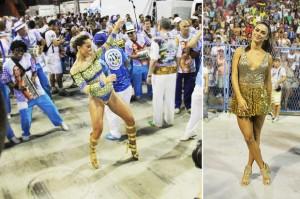 Sabrina Sato: samba no pé no ensaio da Vila Isabel e um gif divertido