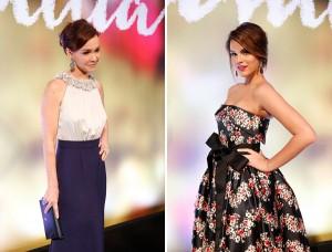 Coques dominam os penteados das atrizes em pré-estreia global. Vem ver!