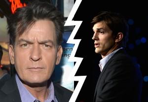 No seu aniversário, Ashton Kutcher ganha ameaça de Charlie Sheen