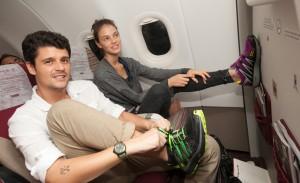 Gente bonita, elegante e sincera no voo do Glamurama Jet por Nextel