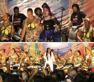 Começou: Olodum dá início ao Carnaval de Salvador no Farol da Barra