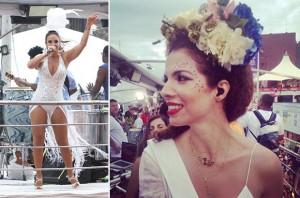 Vanessa da Mata canta com Ivete em cima do trio, em Salvador