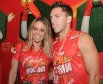 Dani Winits chama atenção no Camarote Brahma Rio