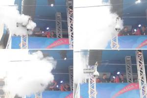 Princípio de incêndio assusta foliões em Salvador, durante trio de Ivete