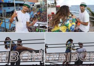 Caio Castro dá rasante no Barra-Ondina e tira Alinne Rosa do chão