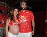 Thiago Lacerda e Vanessa Lóes, supergrávidos. O nome? Só depois do parto