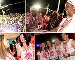 Participantes Multiplus se esbaldam no Camarote de Gilberto Gil