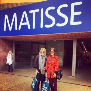 Riccy e Ciccy Souza Aranha na exposição de Matisse no Tate Modern