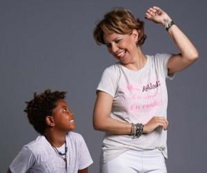Astrid Fontenelle e Gabriel posam para campanha da Mini U.S