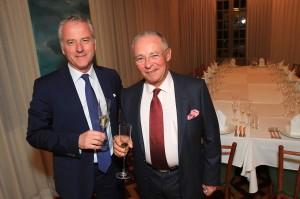 Philippe de Nicolay-Rothschild e Claude Troisgros em evento no Rio
