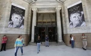 Presidentes da Colômbia e do México em cerimônia para Garcia Márquez