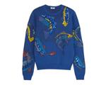 Desejo do Dia: tudo azul com moletom Kenzo para os dias de frio. Básico-chique!