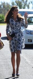 Kate Middleton radiante de Diane von Fustenberg na Austrália