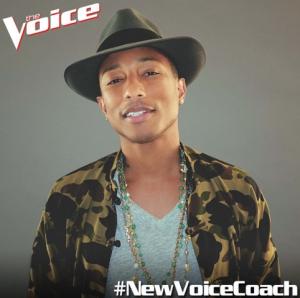 """Pharrell Williams vai fazer parte do """"The Voice"""". Hype é pouco…"""