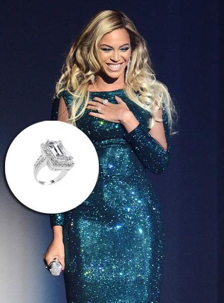 Beyoncé - US$ 5 milhões. Jay-Z não economizou com a mulher e fez um pedido de casamento digno de rainha, com um anel de brilhantes de 18 quilates, feito pela designer Lorraine Schwartz