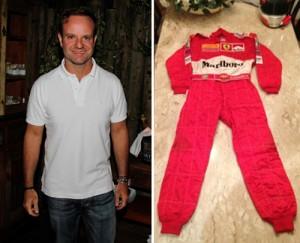 Macacão da Ferrari de Rubens Barrichello vai a leilão em SP. Aos detalhes!