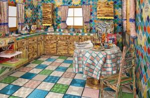 Americana cria cozinha toda feita de canutilhos e miçangas. Impressionante!