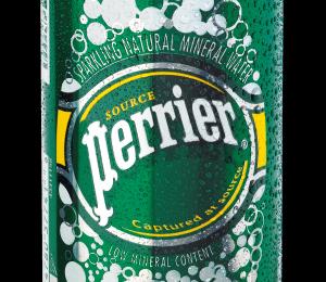 Perrier lança a primeira água mineral com gás em lata do Brasil