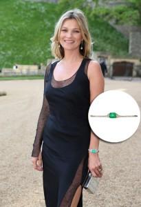 Kate Moss usa joia de brasileiro em jantar de gala no Palácio de Windsor