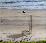 Artistas da Nova Zelândia criam realidade 3D em desenhos na areia
