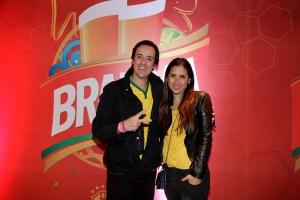 Glamurettes assistem a amistoso do Brasil e Sérvia no Camarote Brahma Morumbi