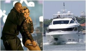 Beyoncé e Jay Z saem com Blue Ivy para passeio em iate