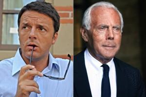 Armani ataca de Lagerfeld e alfineta primeiro-ministro da Itália
