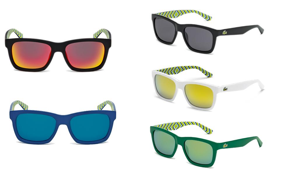 945686cb7de7f Olha só  tem Brasil também na nova coleção de óculos Lacoste. Compartilhe   A Lacoste lançou uma coleção de óculos de sol inspirada no Brasil.