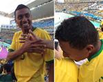 Ex-jogador da seleção foi paparicado nas arquibancadas do Itaquerão