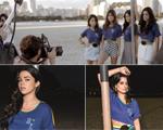 Cris Barros recruta moças cheias de bossa para lançar suas camisetas da Copa