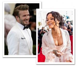 Rihanna e David Beckham aterrissam no Brasil para a final da Copa