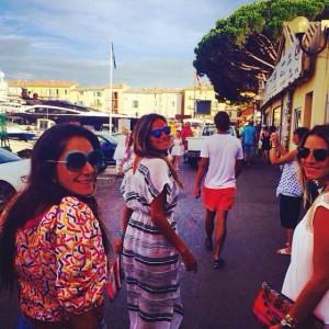 Família Setubal curte o verão europeu em Saint-Tropez