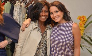 Patricia Geyer recebe glamurettes em lançamento no Leblon