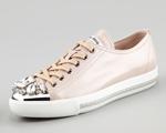 Desejo do Dia: Miu Miu e Swarovski em super sneaker. Para brilhar!