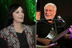 Fernanda Takai e Roberto Menescal juntos no Festival de Tiradentes