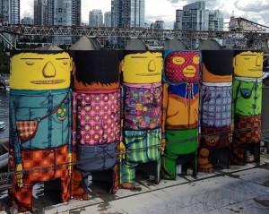 Vem ver o processo criativo de Os Gêmeos para a Bienal de Vancouver