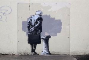 Novo mural do grafiteiro Banksy é vandalizado em Londres