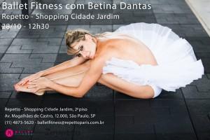 Repetto do Shopping Cidade Jardim arma aula de balé fitness