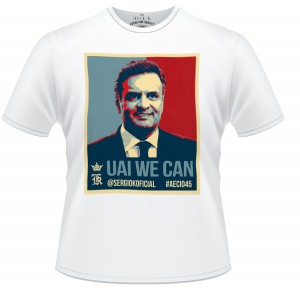 Sergio K lança camiseta em apoio a Aécio Neves. O valor? R$9,99