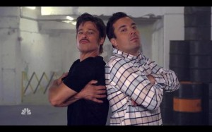 Brad Pitt e Jimmy Fallon promovem batalha de break. Play já!