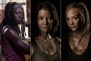 """Longe dos dramas da série, a beleza das atrizes de """"The Walking Dead"""""""