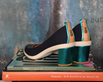 Paula Ferber e Ucha Meirelles criam sapato a quatro mãos
