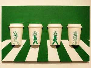 Artista coreano coloca a sereia do Starbucks em situações inusitadas
