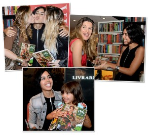 Filha que não era artista, Bela Gil lança livro com fila de fãs