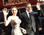 Com cliques nossos, Angelina e Brad Pitt em première na Austrália