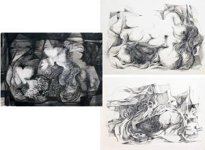Burle Marx assina série de nanquins em exposição na Galeria Inox, no Rio