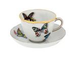 Lá em Casa: xícara e prato de porcelana de Christian Lacroix