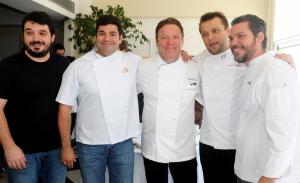 Chefs estrelados reunidos no Rio: aos cliques