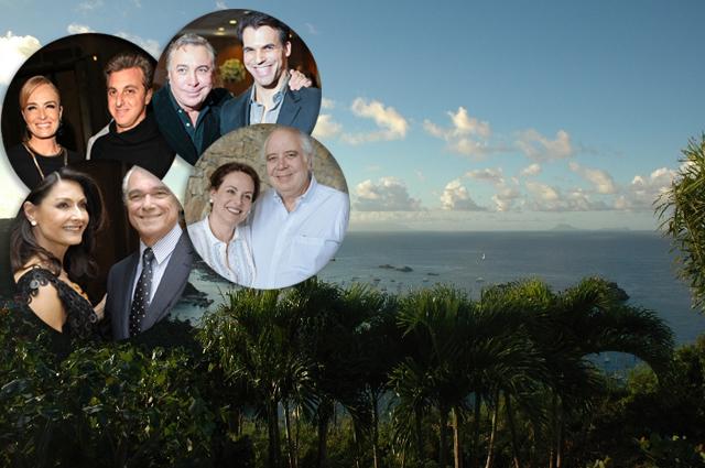 Angelica e Luciano Huck, Sig e Murilo, Ruth e Paulo e Liana e José Ermírio: rumo a St. Barth